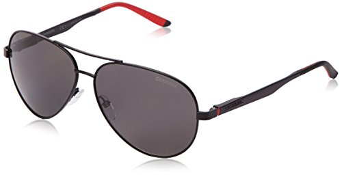 Carrera ca8010s polarizadas gafas de sol de aviador, negro (Matte Black & Gray Polarized), 59 mm
