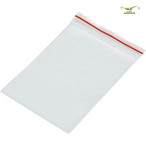 Druckverschlussbeutel Ziptüte aus PE-LD Material transparent 100mm X 100mm / 50mµ / im 1.000`er Pack / 1.000 Stück