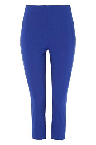 Roman Originals Women Cropped Stretch Bengaline Trousers - Ladies Midi Capri Pull On Pants - Summer Autumn Holiday Daytime 3/4 Three Quarter Crop Trouser - 40 Colours