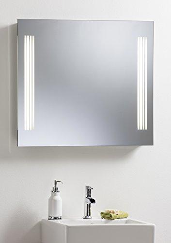 Badezimmerspiegel Lichtspiegel Bad Spiegel mit Sensor Schalter, Rasiersteckdose und Demister Pad 80cm x 70cm–hängt beiden Möglichkeiten–mit Lichtern yj21Kostenlose Lieferung/Frei Gesammelt gibt