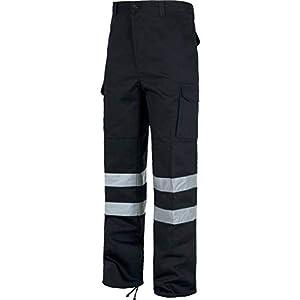 WORKTEAM Pantalones con Cintas Reflectantes. Pantalón de Trabajo con Refuerzos