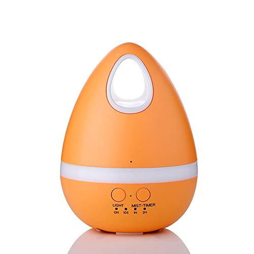 Mini Luftbefeuchter Eier Luftreiniger Schlafmittel Aromatherapie Maschine Anti-Dry Home @ Fan,Orange,125X168mm -