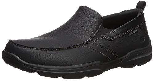 Skechers Herren Harper-Forde Halbschuhe, schwarzes Leder (Skechers-herren-loafer-schuhe)