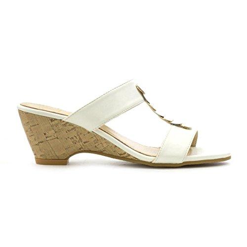 Lilley , Damen Sandalen Weiß