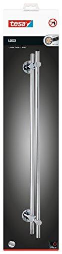 Tesa Loxx Handtuchhalter (zweiarmig, verchromt, rostfrei, inkl. Klebelösung, Haltekraft bis 12kg, 50mm x 700mm x 160mm)