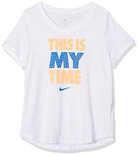 cheaper 20cba 3af01 Nike Girls  This is My Time T-Shirt, White, Medium