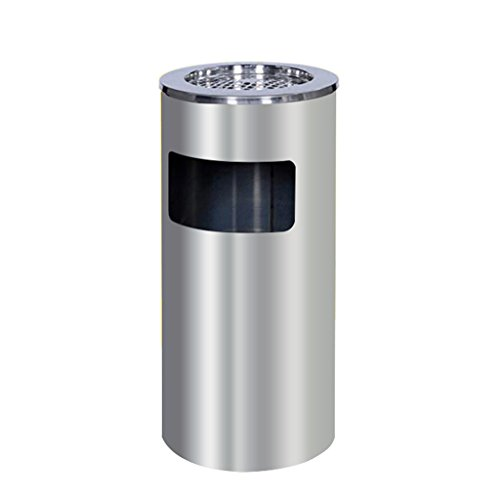 C-J-Xin Hotel Mülleimer, Lobby verdicken vertikale Aufzug Mund mit Aschenbecher Edelstahl Outdoor gehobenen Bürogebäude Hotel Mülleimer 25-30cm Hohe Kapazität ( Farbe : B , größe : 30*62CM )