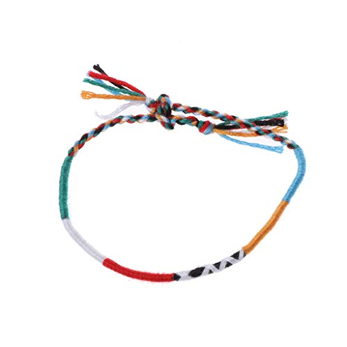 CADANIA Handmade Nepal 7 Chakra Tribal Woven Dünne Freundschaftsbänder Boho Schmuck 5#