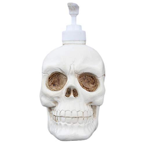 TOPBATHY Spenderflasche Duschgelspender Totenkopf (Weiß) 350ml -