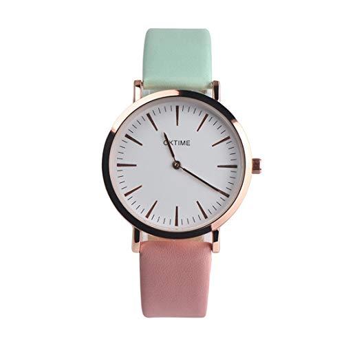 Kinlene Damen Urban Fashion Retro Design Lederband Analog Alloy Quarz-Armbanduhr Feature Uhren