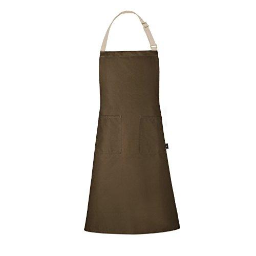 BONTHEE Coffee Chef Kochschürze/Küchenschürze 100% Baumwolle, waschbar und pflegeleicht, perfekt als Grillschürze und Schürze