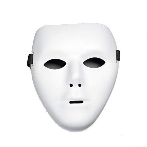 Kostüm Gesicht Mystique - Foroner Halloween PVC Maske Ritter Geist Tanz Hip Hop Maske (Weiß)