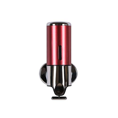 Dispensadores De Loción LiTingDz Dispensador de jabón Manual Montaje en Pared 500 ml Acero Inoxidable Champú desinfectante Botella de Gel de baño para la Familia, Restaurante, Hotel (Color : Red)