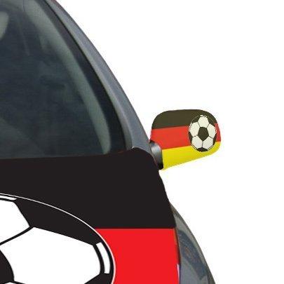 Außenspiegel-Überzieher Fußball Deutschland 2-tlg.