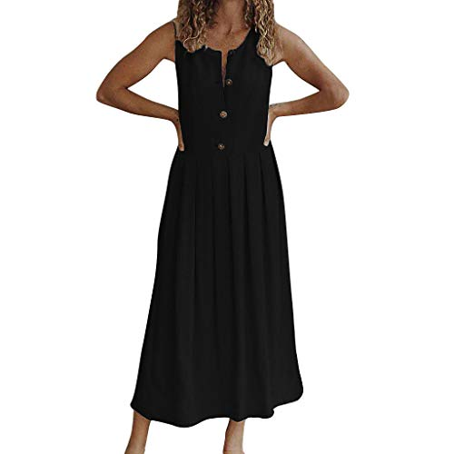 Fresofy Damen Sommerkleid Lang Maxikleid Strandkleider Partykleid Maxi Kleider mit Streifen Cocktailkleider Lose Sommerkleider Ballkleid Swing Kleid Festliche Hochzeits kleider Abendkleid Kostüm