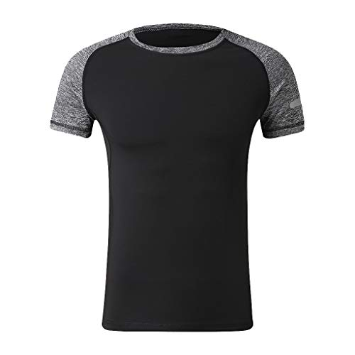 Beudylihy Herren Sommer T-Shirt V-Ausschnitt Slim Fit Baumwolle-Anteil   Moderner Männer T-Shirt O-Neck Hoodie-Sweatshirt Kurzarm lang