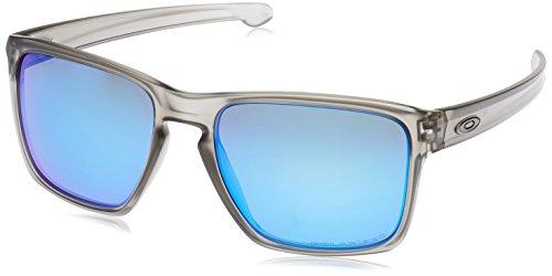 Oakley Sonnenbrille SLIVER XL, Grau (SAPPHIRE IRIDIUM POLARIZED), 57, OO9341-03