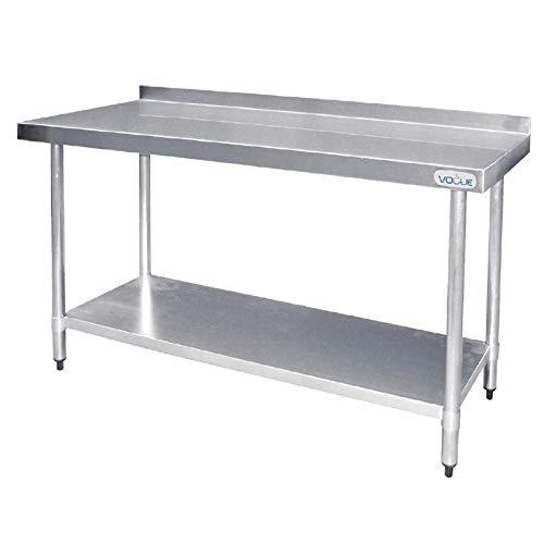 Vogue T382 Table en acier inoxydable