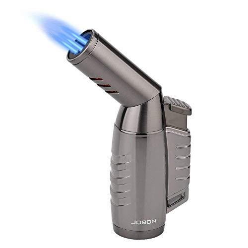 Jet Feuerzeug, LAZU ZB-578 Sturmfeuerzeug Einstellbare Düse 3 Turbo Flamme-Feuerzeug Pfeifenfeuerzeug Gasfeuerzeug mit Geschenkbox
