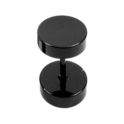 Mens Fashion Jewellery Fancy Black dumbbell Design Stud Earring  available at amazon for Rs.199