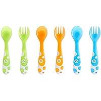 Munchkin - Set de 3 tenedores y 3 cucharas, surtido de colores
