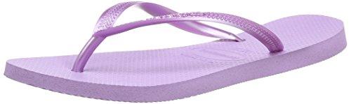 Havaianas Slim Damen Zehentrenner, Violett (SOFT LILAC 2529),37/38 EU (35/36 - Soft-flipflops