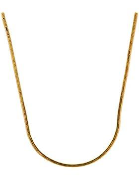0,8 mm 40 cm 585 Gold Schlangenkette diamantiert Goldkette 14 kt massiv Gold hochwertige Halskette 2,7 g