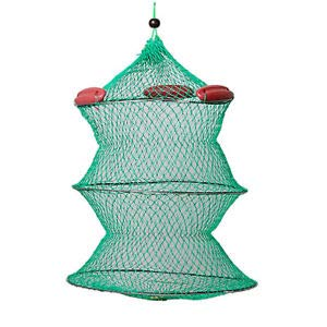 SLB Works Collapsible Green Knot Boat Fishing Live Bait Keep Net K2P8 G4J8 YS U1