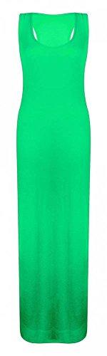 Generic Damen Kleid, Einfarbig * Einheitsgröße Jadegrün