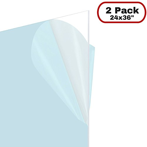 Framemaster 24x 36Flexibler Kunststoff Tabelle für Poster Rahmen, Schutz, DIY Projekt 2er-Pack 24x36
