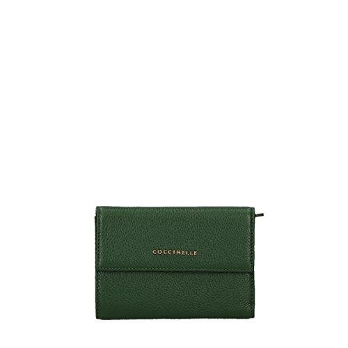 COCCINELLE Metallic Soft Flap Wallet Noir 221 IMPERIAL
