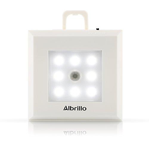 Albrillo Kabellos LED Nachtlicht mit Bewegungsmelder 8 LEDS Auto EIN/AUS