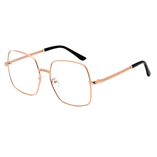fazry Herren Damen Polarisiert Sonnenbrille Metallrahmen Mode Brille Brillen(Orange)