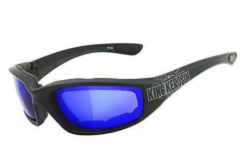 King Kerosin KK140 Sonnenbrille Schwarz/Matt Blau