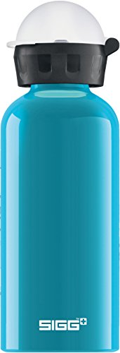 Sigg Kinder Kinder Trinkflasche SIGG KBT Waterfall, Kinder Trinkflasche, 0.4 L, Auslaufsicher, BPA Frei, Aluminium, Türkis, Aqua, 0.4 L, 8689.30 - Aqua-wasser-flasche