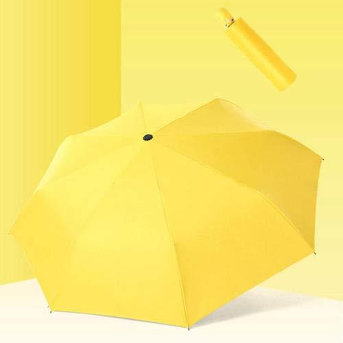 MVBGLK Faltender automatischer Regenschirm-Regen-Frauen-Wind-beständiger winddichter Regenschirm-Mann-Rahmen-winddichter Spielraum-Sonnenschirm @ orange