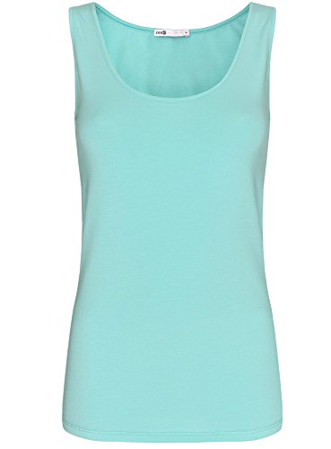 oodji Collection Damen Tank Top Basic Türkis (7301N)