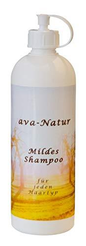 Ava Natur mildes Shampoo zur täglichen Pflege für jedes Haar bei sensibler trockener Kopfhaut Kopfhautjucken kräftigt das Haar gibt Volumen und Glanz kann Haarausfall lindern 200 ml
