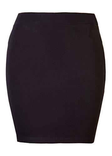 Mini jupe pour femmes Brody & Co pour la plage ou au club coton extensible -  Noir - 38