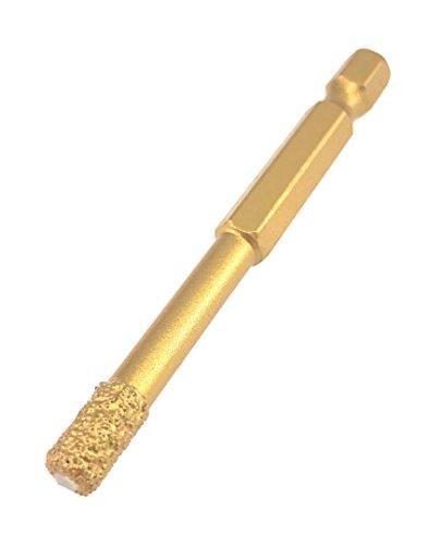 PRODIAMANT Profi Diamant-Bohrkrone Fliese 6 mm x Bit Aufnahme Fliesenbohrer Trockenbohrer PDX855.804 6mm für Bohrmaschinen und Akkuschrauber