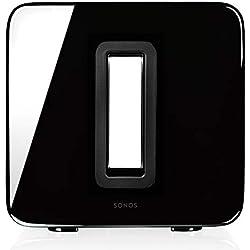 Sonos SUB Caisson de basse sans fil et subwoofer actif pour home cinema - Fonctionne avec le système audio multiroom Sonos - Noir