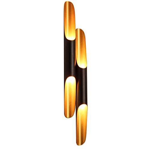 TXDZ Applique murale en aluminium moderne Art Paint LED pour lampadaire double tube en bambou, salon/couloir/chambre à coucher (taille: XL)