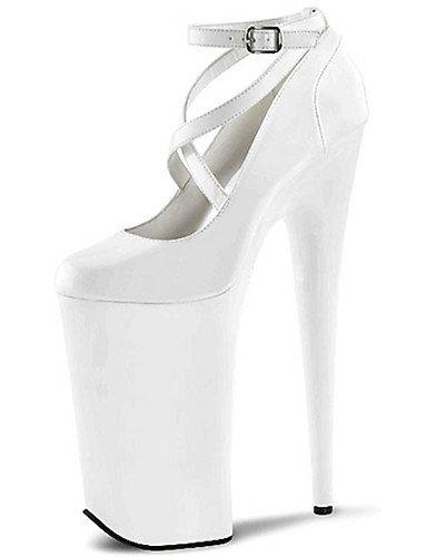 WSS 2016 Chaussures Femme-Mariage / Soirée & Evénement-Noir / Rouge / Blanc-Talon Aiguille-Talons / A Plateau / Bout Arrondi / Bout Fermé- red-us9.5-10 / eu41 / uk7.5-8 / cn42