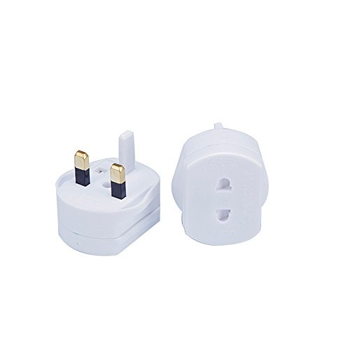 Gadgets Hut UK -  2 Pin To 3 Pin 1A Fuse Adaptor Plug For Shaver / Toothbrush