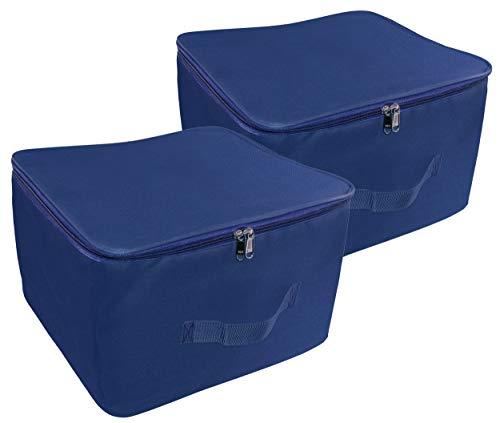 SNDIA Wardrobe Organizer Clothes & Blankets Storage Bag 15X10X14 INCH (Pack of 2)