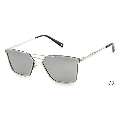 Taiyangcheng Gafas de sol cuadradas para Mujer Gafas de sol para Hombre,C2