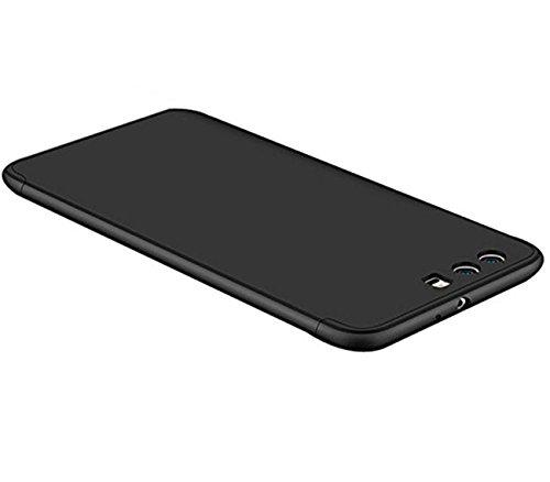 "JEPER Huawei P10 Cover, Custodia Huawei P10 360 Gradi Ultra Sottile Cassa 3 in 1 Duro PC Case Rigido Elegante Shock-Absorption e Custodia per Huawei P10/ P10 Plus (Huawei P10 5.1"", Nero)"