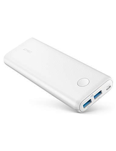 Anker PowerCore II 20000mAh Powerbank externer Akku mit PowerIQ 2.0 und Zwei USB-A Ports, lädt iPhone XS Max/XR/XS/X / 8 / 8Plus / 7 / 6s / 6Plus, und Samsung Galaxy und weitere Geräte (Weiß)