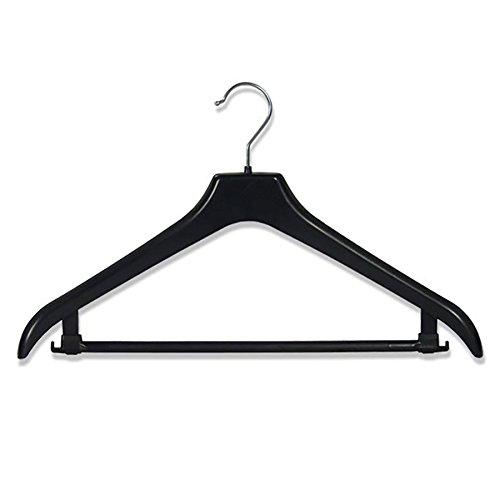 Hangerworld Lot Lot de 5 Solide Plastique Noir Suit Veste Pantalon cintres - Durable avec épaules Soutien 44 cm (43,9 cm)