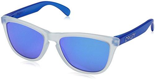 Oakley Herren 0Oo Frogskins 9013B2 55 Sonnenbrille, Transparent (Matte Clear/Sapphireiridium),